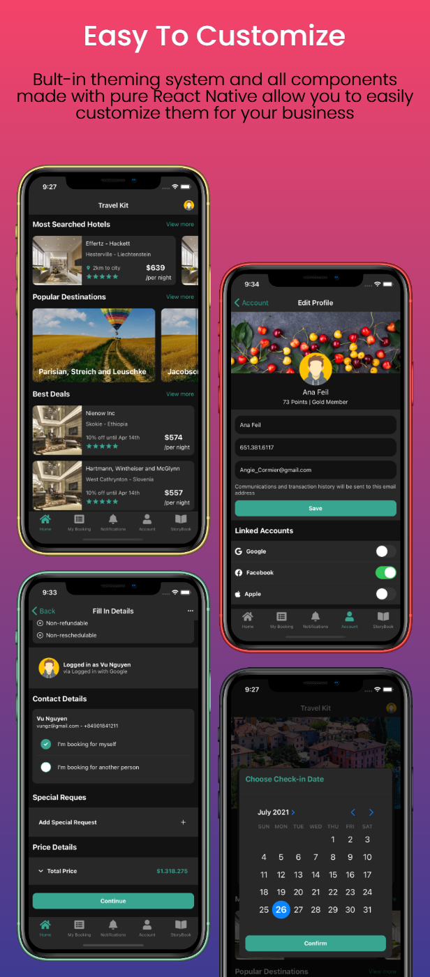 Travel Kit - Mobile React Native Travel & Hotels Template - 4