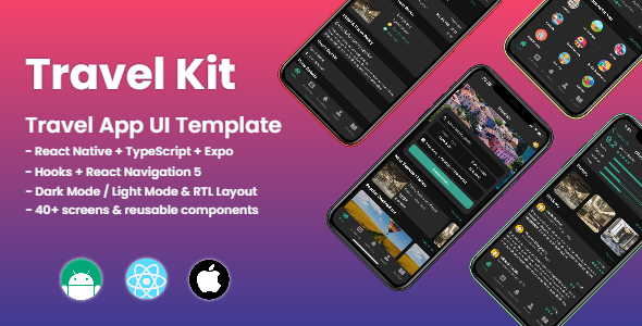 Travel Kit - Mobile React Native Travel & Hotels Template - 1